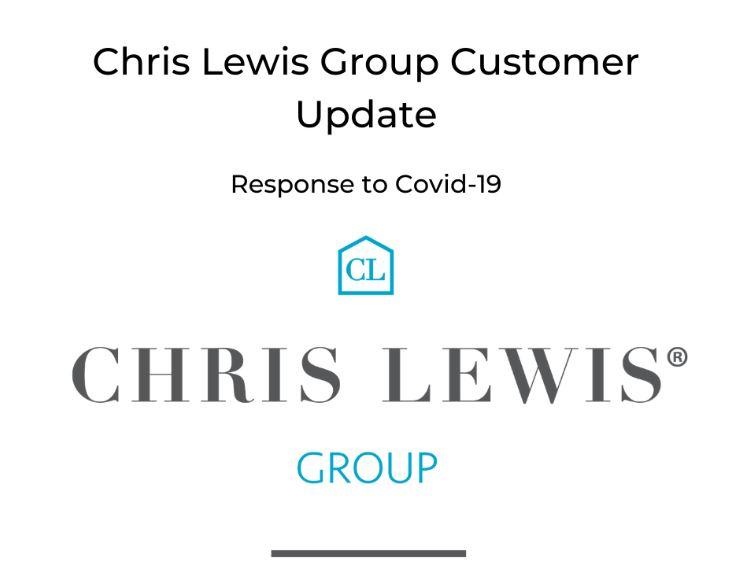 CHRIS LEWIS GROUP UPDATE: response to the Coronavirus