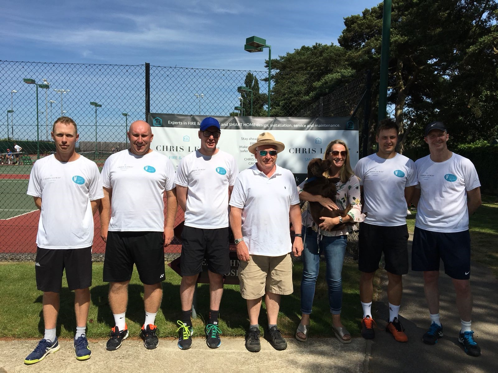 tennis sponsor Chris Lewis Fire and Security